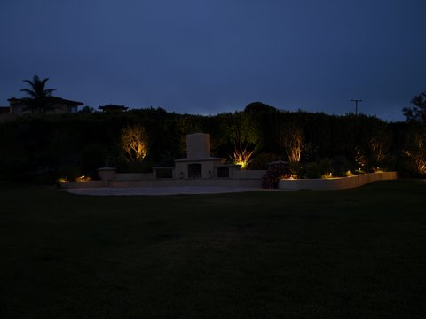 Lake Sherwood Landscape Lighting Patio Area